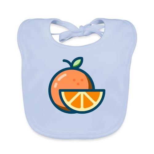 orange - Organic Baby Bibs