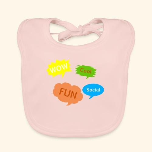 Sprechblasen Wow Cool Fun Social - Baby Bio-Lätzchen