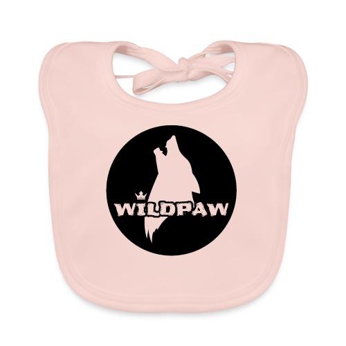 Wildpaw logo circular transparent mono - Baby Organic Bib