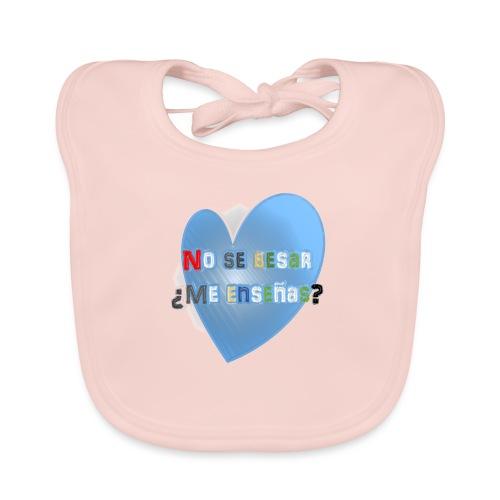 besos - Babero de algodón orgánico para bebés