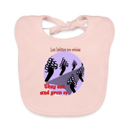 hábitos - Babero de algodón orgánico para bebés