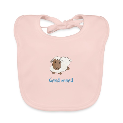 Nadège le petit mouton blanc - Bavoir bio Bébé