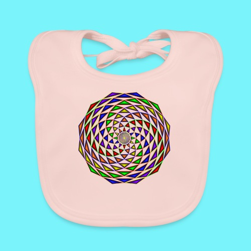 Mandala in rainbow colours - Organic Baby Bibs