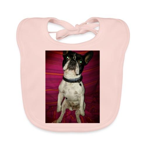 Bulldog francés Sit - Babero de algodón orgánico para bebés