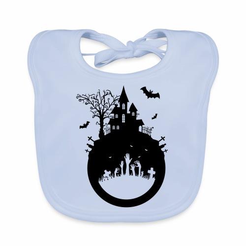 Halloween Design - Das Spukhaus - Baby Bio-Lätzchen