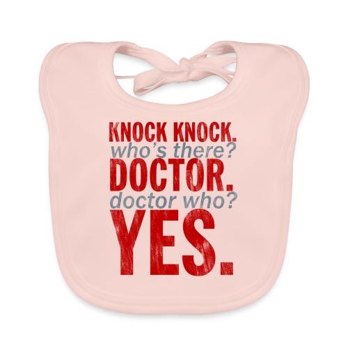Knock Knock! Doctor Who? Design - Baby Organic Bib
