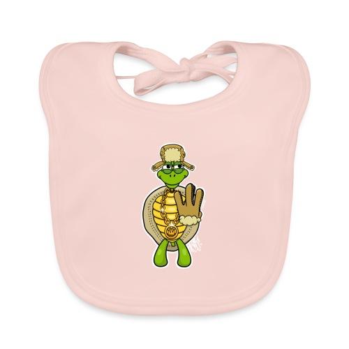 Winter West Coast Schildkröte / Hip-Hop Turtle - Baby Bio-Lätzchen