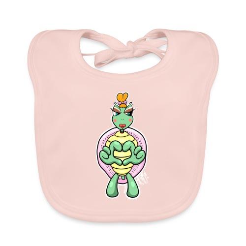 Girlie Turtle/ Schildkröte - Baby Bio-Lätzchen