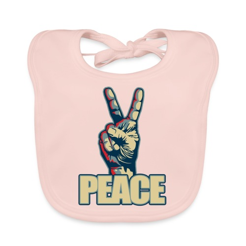 Peace hand sign - Bavoir bio Bébé