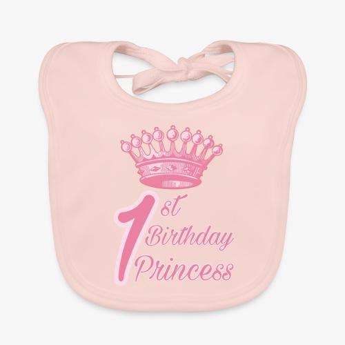 1st Birthday Princess - Bavaglino ecologico per neonato