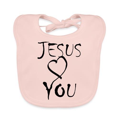 jesus loves you - Baby Bio-Lätzchen