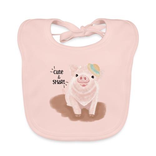 Cute & Smart Pig - Baby Organic Bib