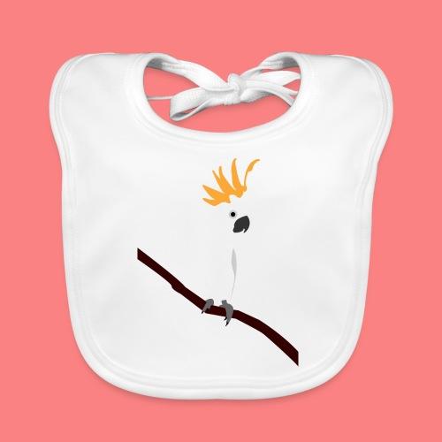 WHITE CACATUA - Bavaglino ecologico per neonato