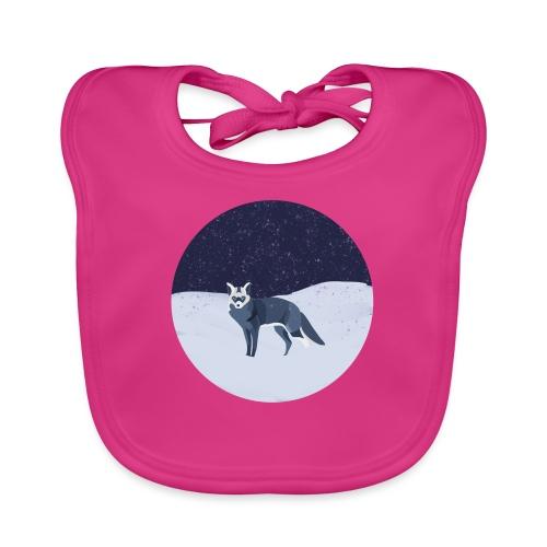Blue fox - Vauvan luomuruokalappu