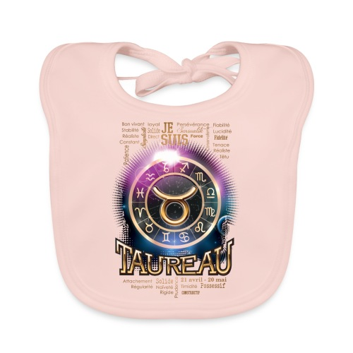 TAUREAU - Bavoir bio Bébé