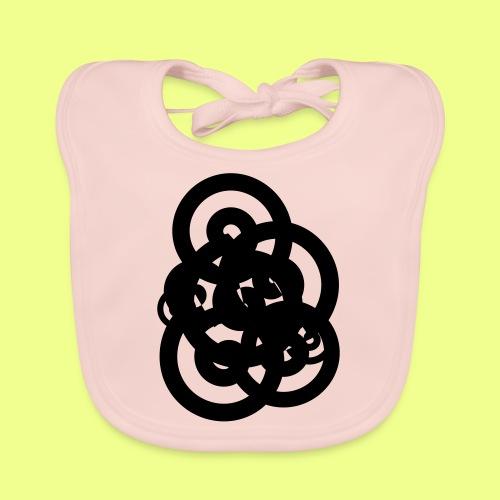 espirales negras - Babero de algodón orgánico para bebés