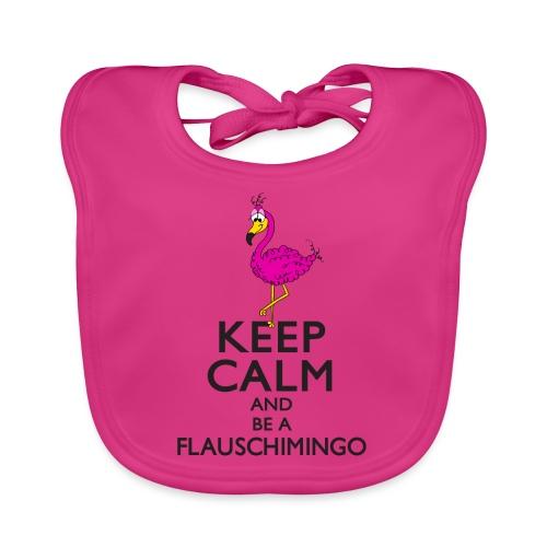 Keep calm and be a Flauschimingo - Baby Bio-Lätzchen