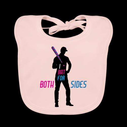 I bat for both sides male - Baby Organic Bib