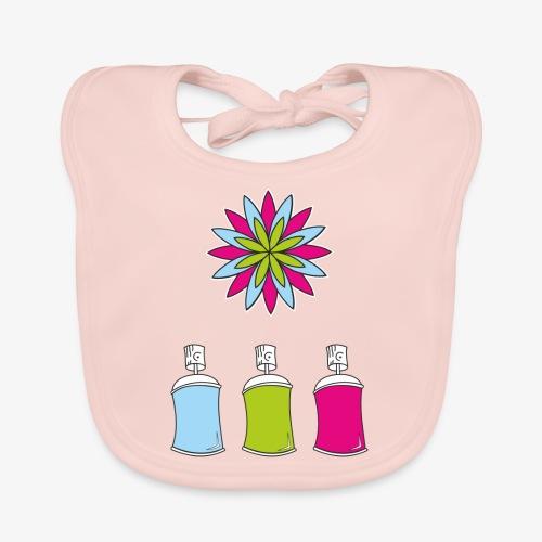 SOLRAC Spray of colors - Babero de algodón orgánico para bebés