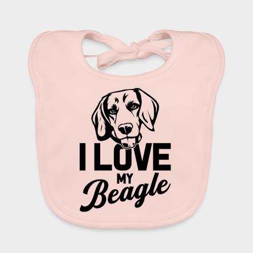 I LOVE MY BEAGLE - Baby Bio-Lätzchen
