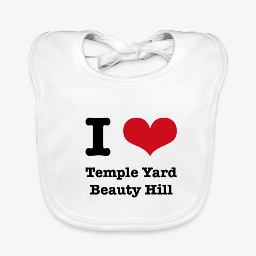 I love Temple Yard Beauty Hill - Baby Bio-Lätzchen