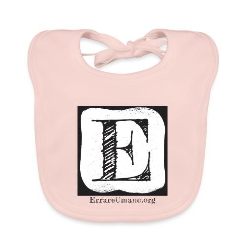 Logo ErrareUmano (scritta nera) - Bavaglino ecologico per neonato
