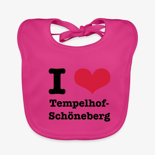 I love Tempelhof-Schöneberg - Baby Bio-Lätzchen