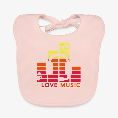 I love music Illustration Gig Band Musik Godigart - Baby Bio-Lätzchen