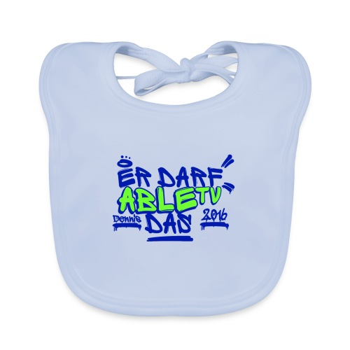 AbleTV Grafitti Logo Marken Shirt (Er Darf Das) - Baby Bio-Lätzchen