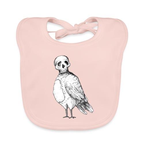 skull bird White alpha - Bavoir bio Bébé