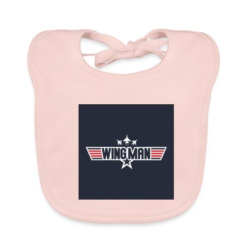 top gun wingman design - Babero ecológico bebé
