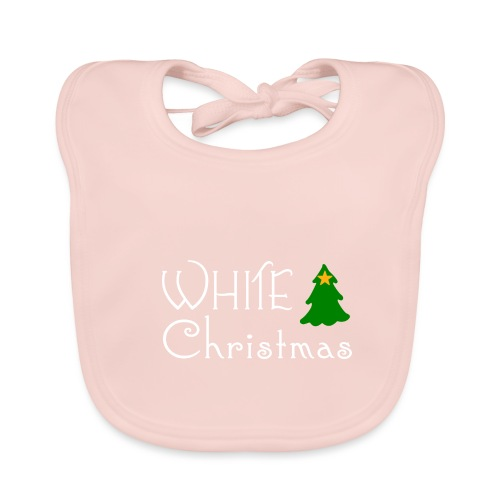 White Christmas - Baby Organic Bib