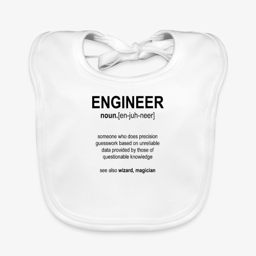 Engineer Def. 1 (Black) - Bavoir bio Bébé
