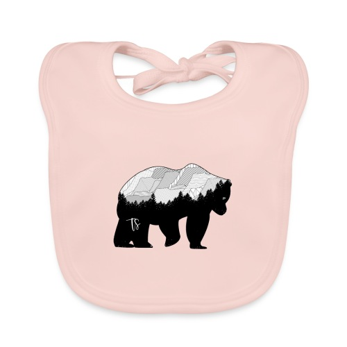 Geometric Mountain Bear - Bavaglino ecologico per neonato