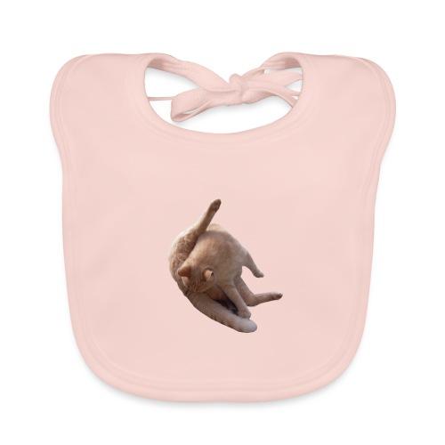 Cat sucking Balls - Babero de algodón orgánico para bebés