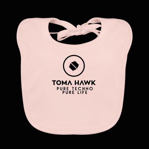 Toma Hawk - Pure Techno - Pure Life Black - Baby Bio-Lätzchen