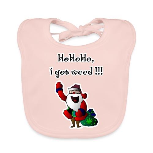 Santa HoHoHo, i got weed !!! cannabis - Organic Baby Bibs