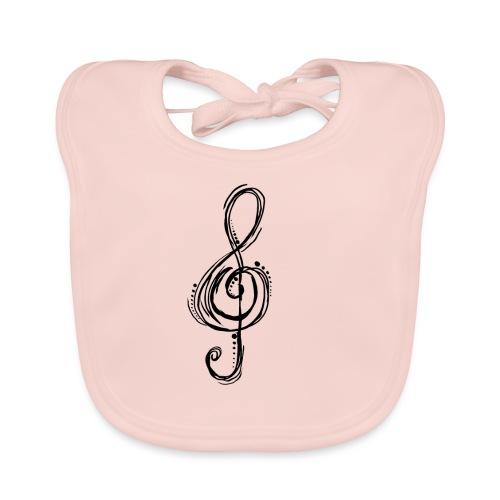 Violinschlüssel - Baby Bio-Lätzchen