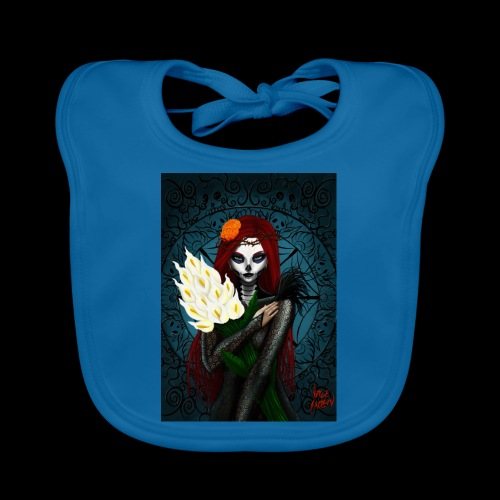 Death and lillies - Organic Baby Bibs