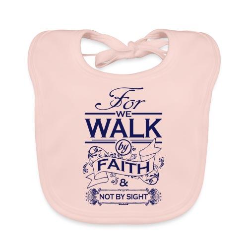 walk navy - Baby Organic Bib