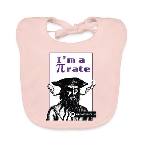 I am a pirate - Vauvan luomuruokalappu
