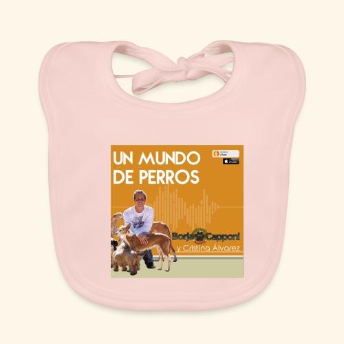 Un mundo de perros 1 03 - Babero de algodón orgánico para bebés