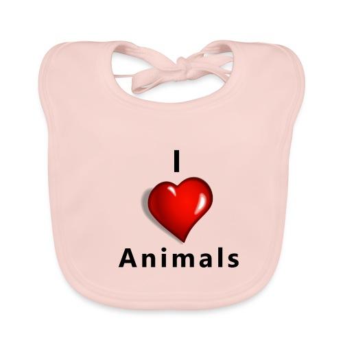 i love animals - Bio-slabbetje voor baby's