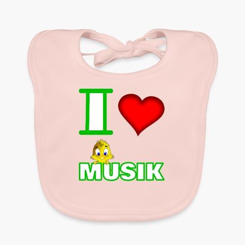 Ich liebe Musik - Baby Bio-Lätzchen
