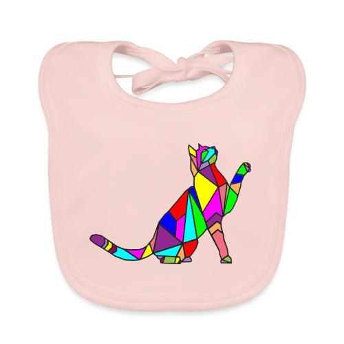 composizione di arte animale animale domestico colori gatto - Bavaglino ecologico per neonato