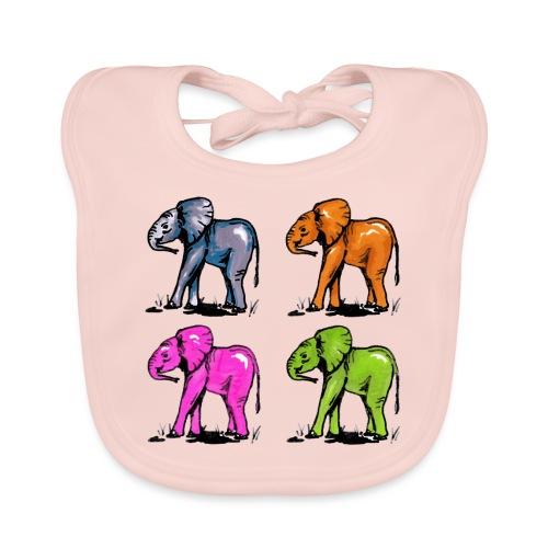 Elefantenkinder - Baby Bio-Lätzchen