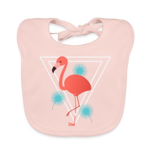Flamingo im Dreieck - Baby Bio-Lätzchen