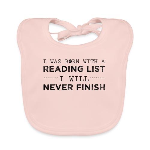 0193 Stapel ungelesener Bücher | Lesen | Leser - Baby Organic Bib