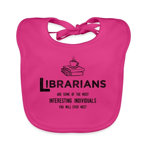 0335 Librarian Cool story Funny Funny - Baby Organic Bib