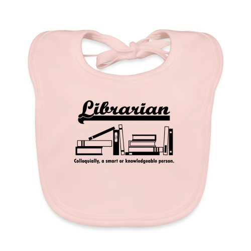 0332 Librarian Cool saying - Baby Organic Bib